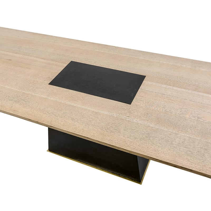 Leverage Dining Table top details